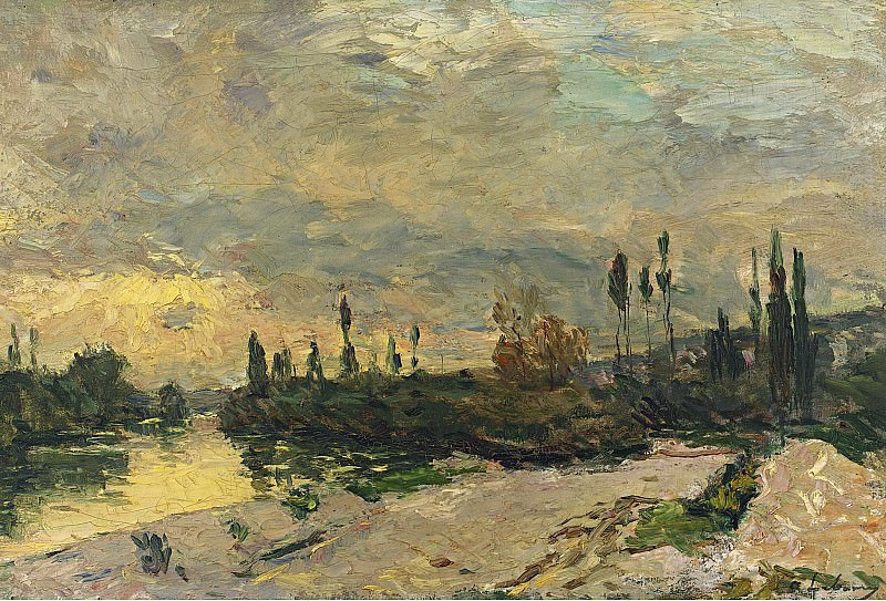 Albert Lebourg - The Sunset at the Seine near Vetheuil. Sotheby's