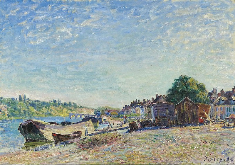 Alfred Sisley - The Banks of Loing at Saint-Mammes, 1885. Sotheby's