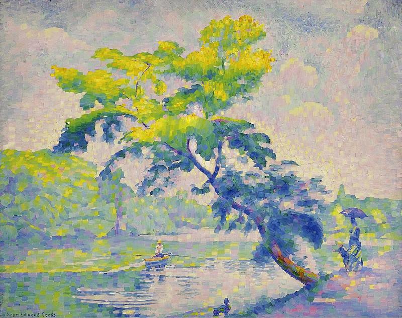 Henri Edmond Cross - Benting Tree, 1905. Картины с аукционов Sotheby's