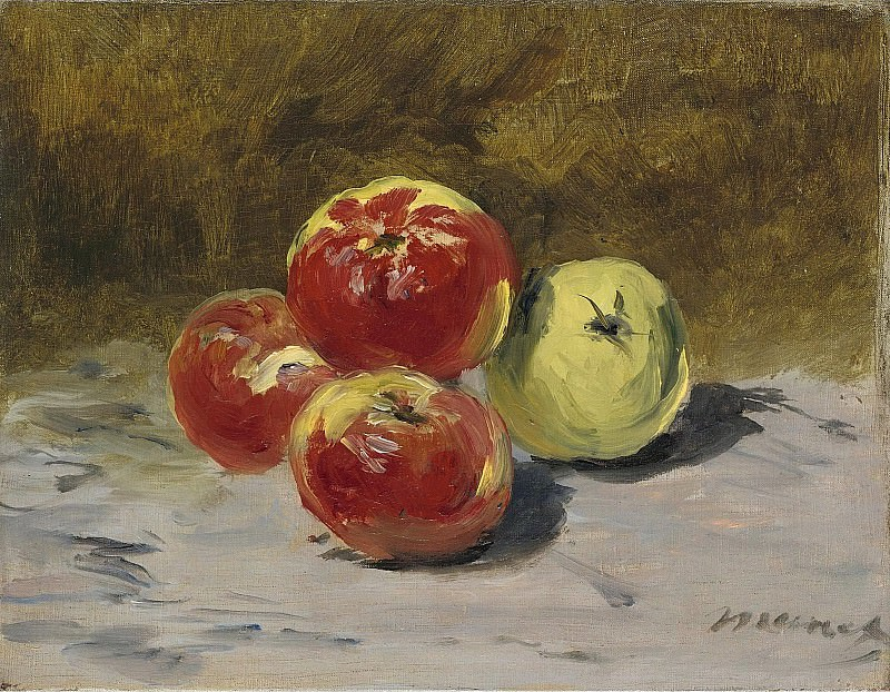Eduard Manet - Four Apples, 1882. Sotheby's