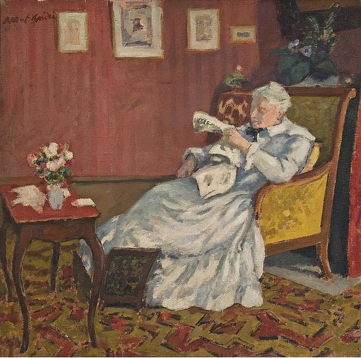 Albert Andre - Old Lady in White Seated, 1912. Картины с аукционов Sotheby's