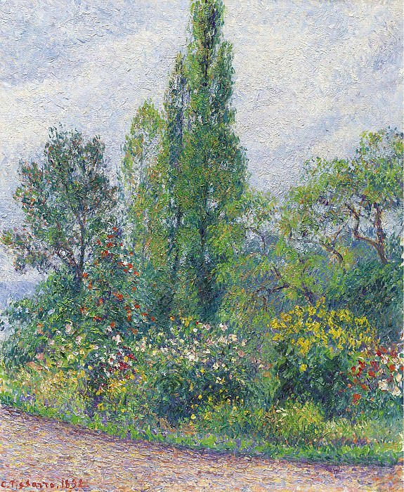 Camille Pissarro - The Garden of Octave Mirbeau at Damps (Eure), 1892. Sotheby's