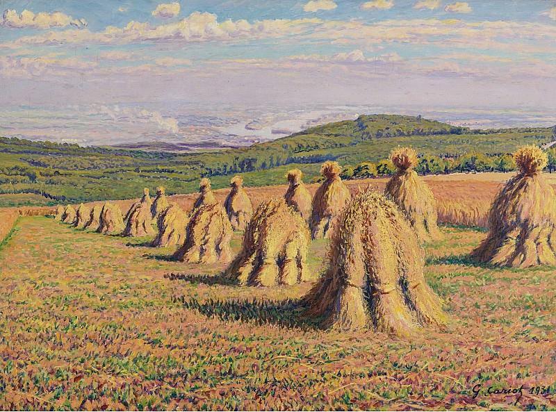 Gustave Cariot - Haystacks. Картины с аукционов Sotheby's