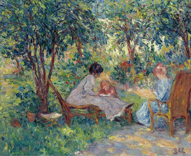 Georges d Espagnat - In the Garden. Sotheby's