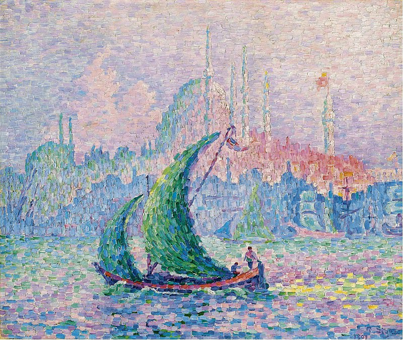 Paul Signac - The Golden Horn, 1907. Sotheby's