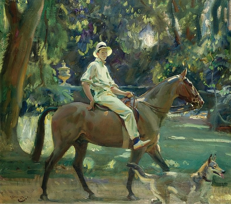 Alfred James Munnings - Return from the Nets, Portrait of Stephen Edward Vivian Smith, 1919. Sotheby's