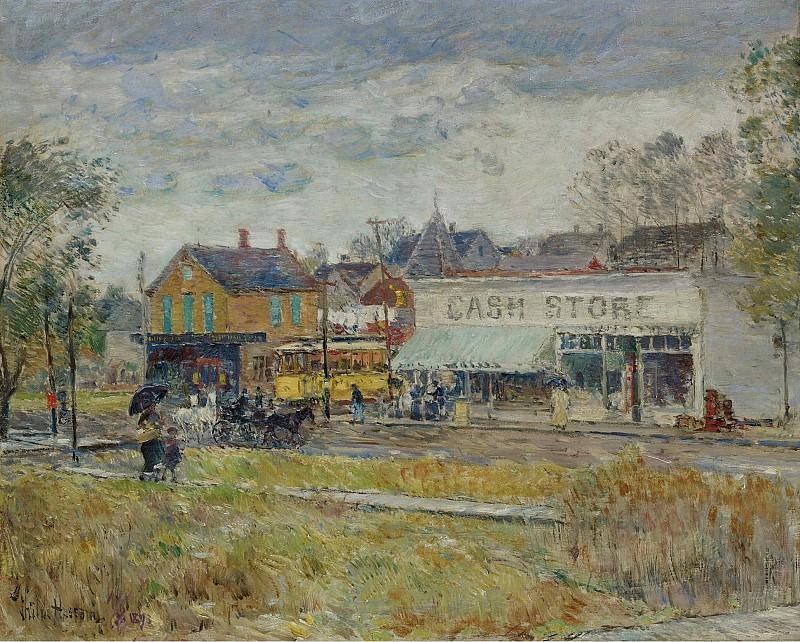 Гассам, Чайльд Фредерик - End of the Trolley Line, Oak Park, Illinois, 1893. Картины с аукционов Sotheby's