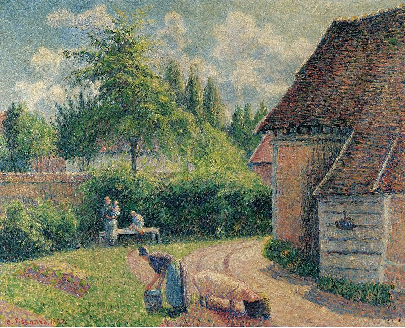 Camille Pissarro - Peasant House, 1892. Sotheby's