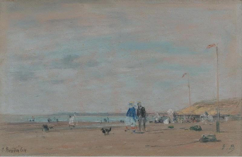 Eugene Boudin - Scene on the Beach, 1864. Sotheby's