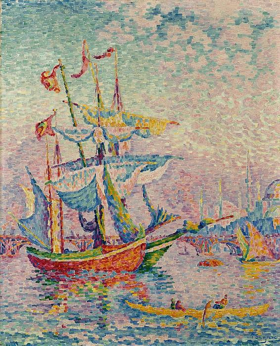 Paul Signac - The Port of Golden Horn, 1907. Sotheby's