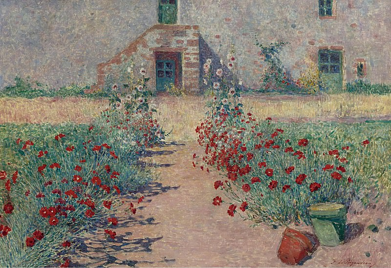 Ferdinand du Puigaudeau - Carnations Alley at Kervaudu. Картины с аукционов Sotheby's
