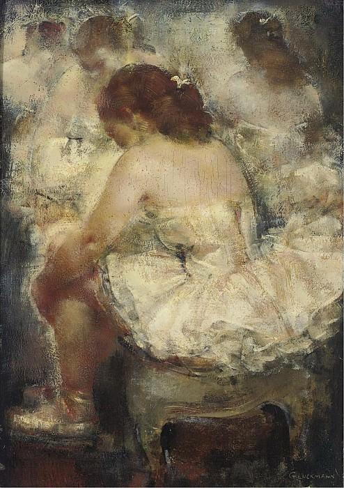 Grigory Gluckmann - Moment of Rest. Картины с аукционов Sotheby's