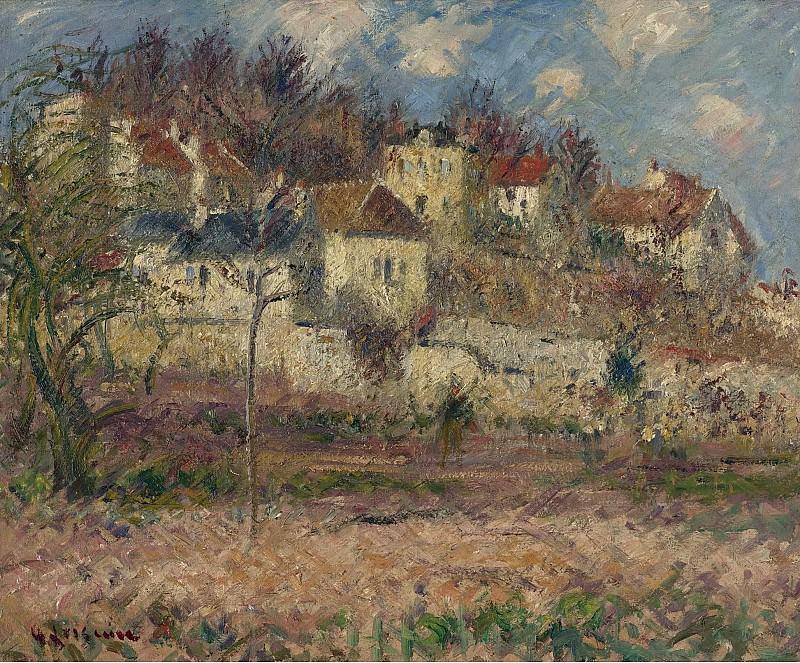 Gustave Loiseau - Village Scene. Sotheby's