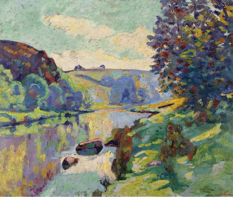 Armand Guillaumin - The Echo Rock at Crozant, 1905. Картины с аукционов Sotheby's