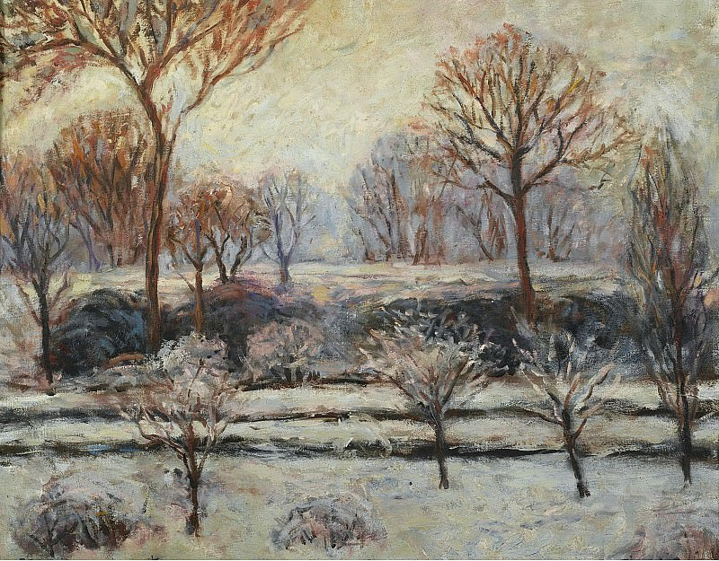 Blanche Hoschede-Monet - Winter Landscape. Sotheby's