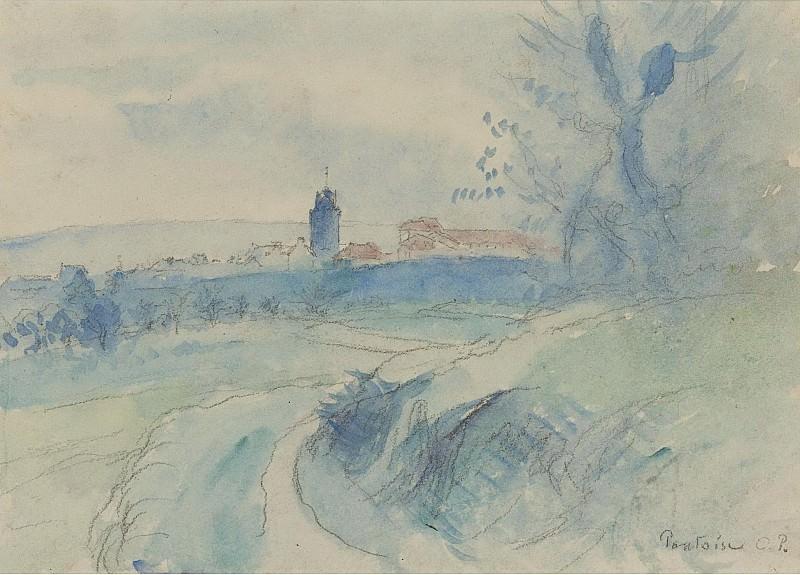 Camille Pissarro - Pontoise, 1894-95. Sotheby's