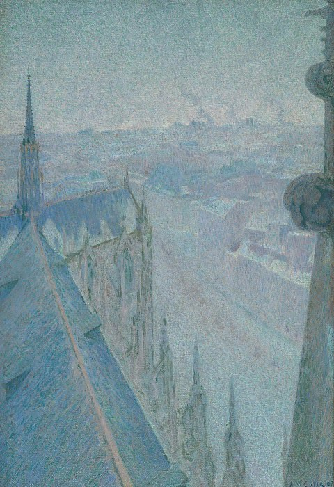 Michel Auguste Colle - Nancy, View of the Cathedral, Saint Eprve (Blue), 1907. Картины с аукционов Sotheby's