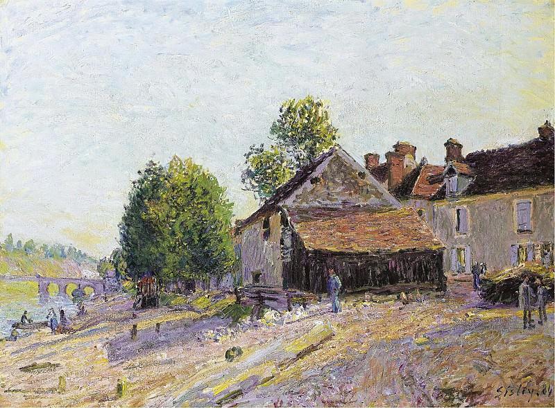 Alfred Sisley - Landscape near Moret, 1884. Sotheby's