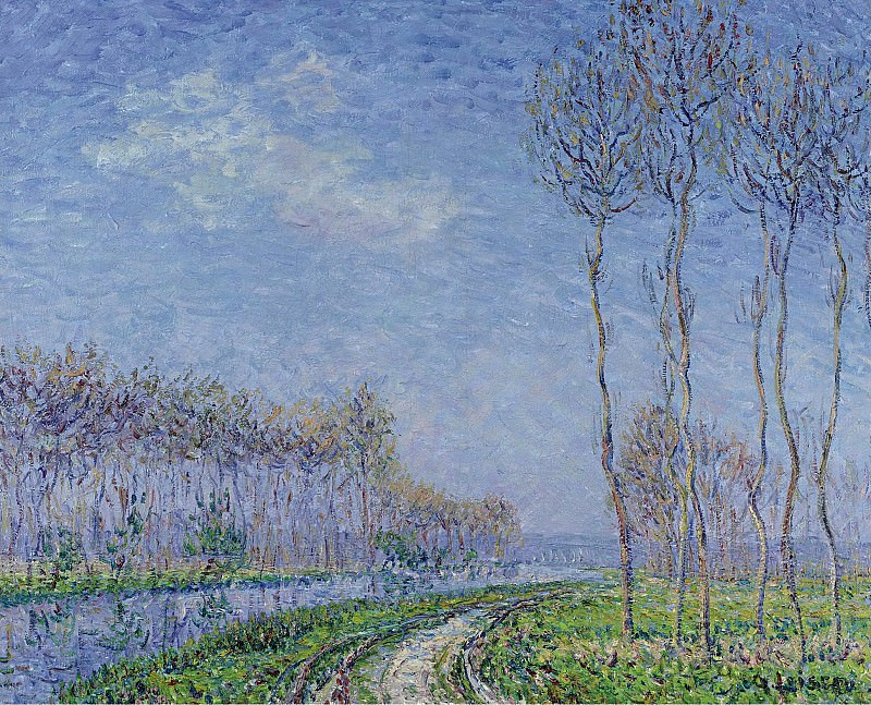 Gustave Loiseau - Trees on the Bank of the River, 1899. Sotheby's