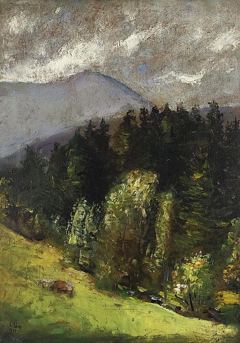 Lesser Ury - Landscape, 1899. Sotheby's