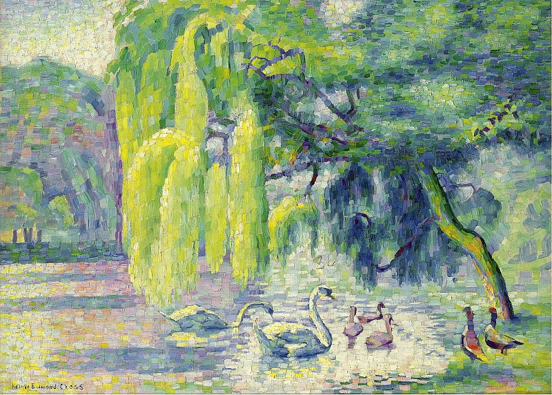 Henri Edmond Cross - Swans Family, 1899-1900. Sotheby's