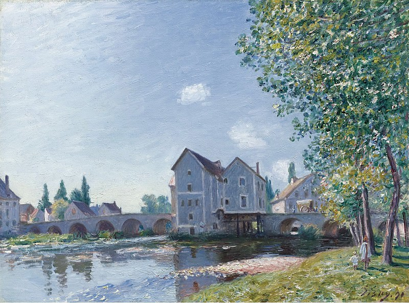Alfred Sisley - The Bridge of Moret, Morning Effect, 1891. Sotheby's