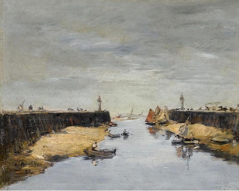 Eugene Boudin - Trouville, the Jetties, 1882. Картины с аукционов Sotheby's