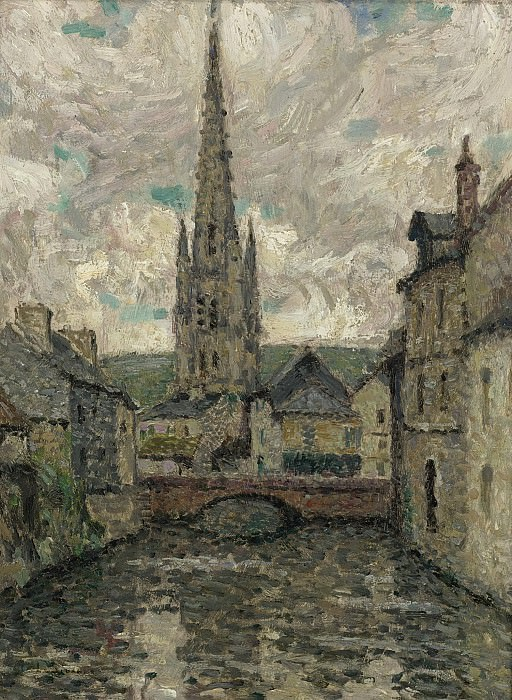 Henri Le Sidaner - The Church, Honfleur, 1914. Sotheby's
