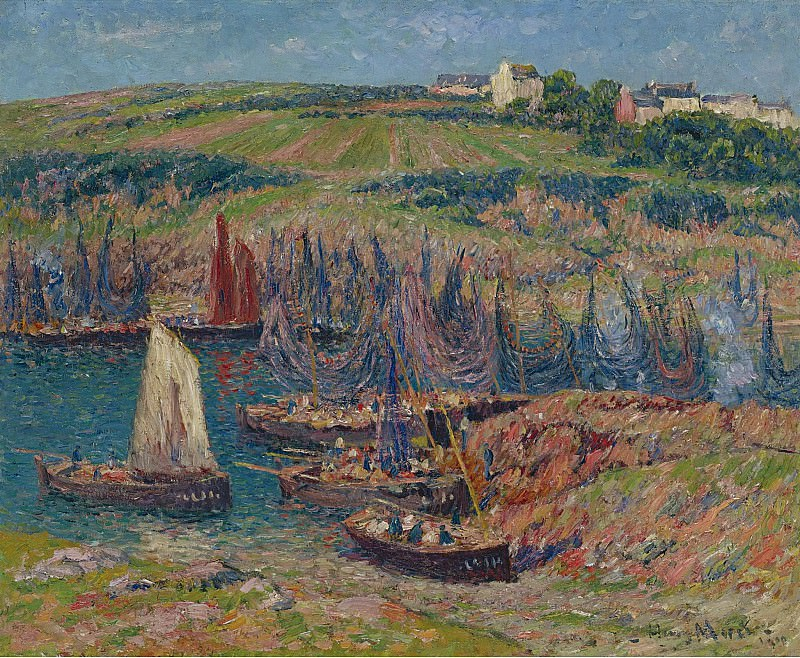 Henry Moret - Sardines Catchers at Douelan, 1909. Sotheby's