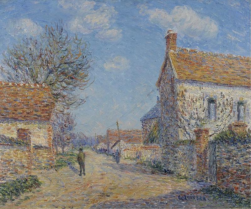 Gustave Loiseau - The Street of Saint-Cyr, the Sun, 1900. Sotheby's
