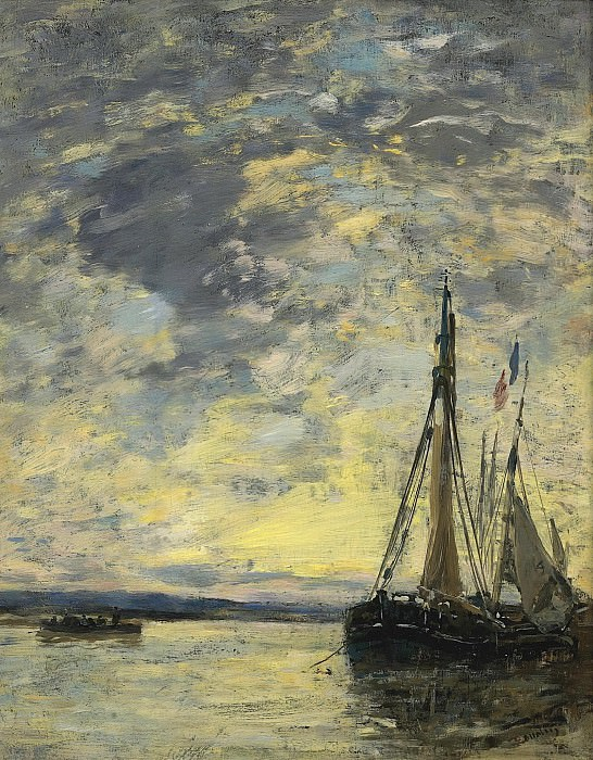 Eugene Boudin - Sailer on the Water, 1885-90. Sotheby's