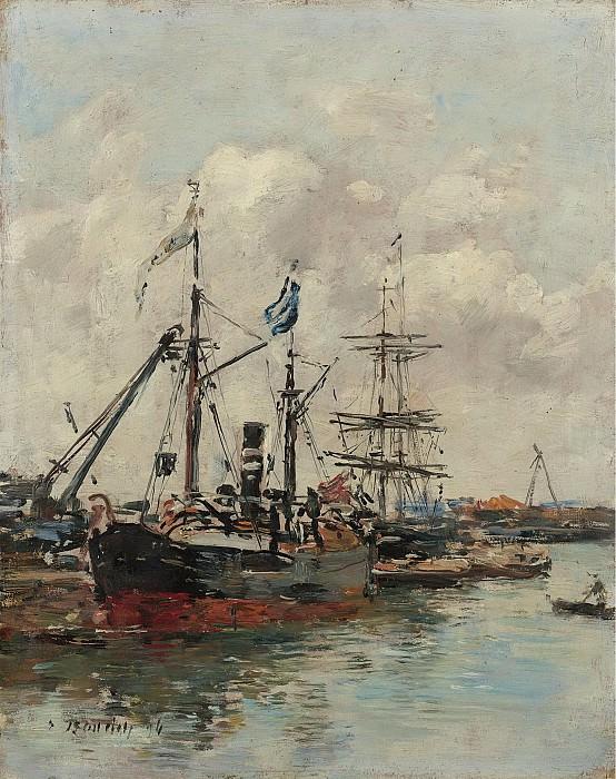 Eugene Boudin - Trouville, the Port, 1894. Sotheby's