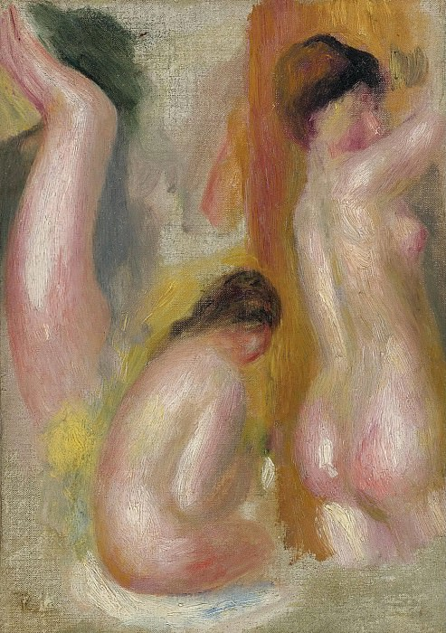 Pierre Auguste Renoir - Three Bathers, 1895. Sotheby's