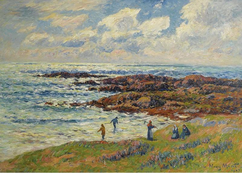 Henry Moret - Gathering of Seaweeds at Nevez, 1908. Sotheby's