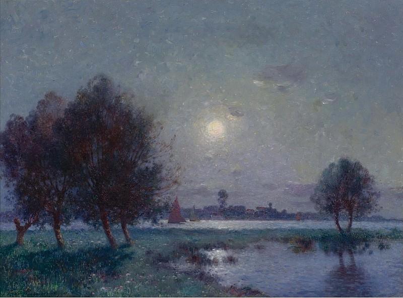 Ferdinand du Puigaudeau - The Bank of Loire under Clear Moon, 1911. Sotheby's