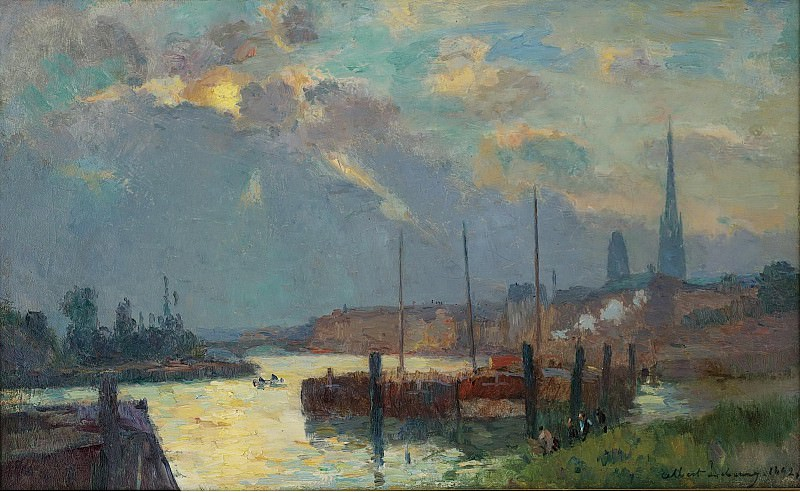 Albert Lebourg - The Port and the Cathedral of Rouen, 1892. Sotheby's