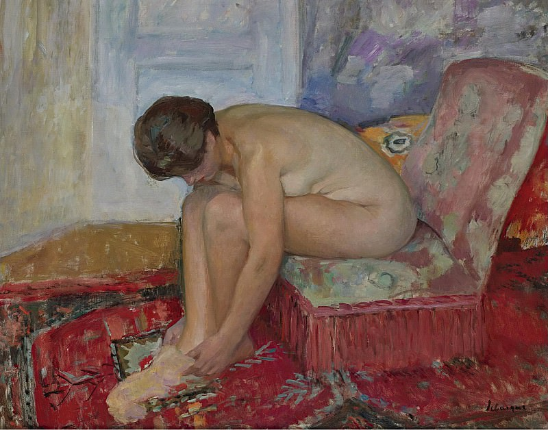 Henri Lebasque - Female Nude Seated. Sotheby's