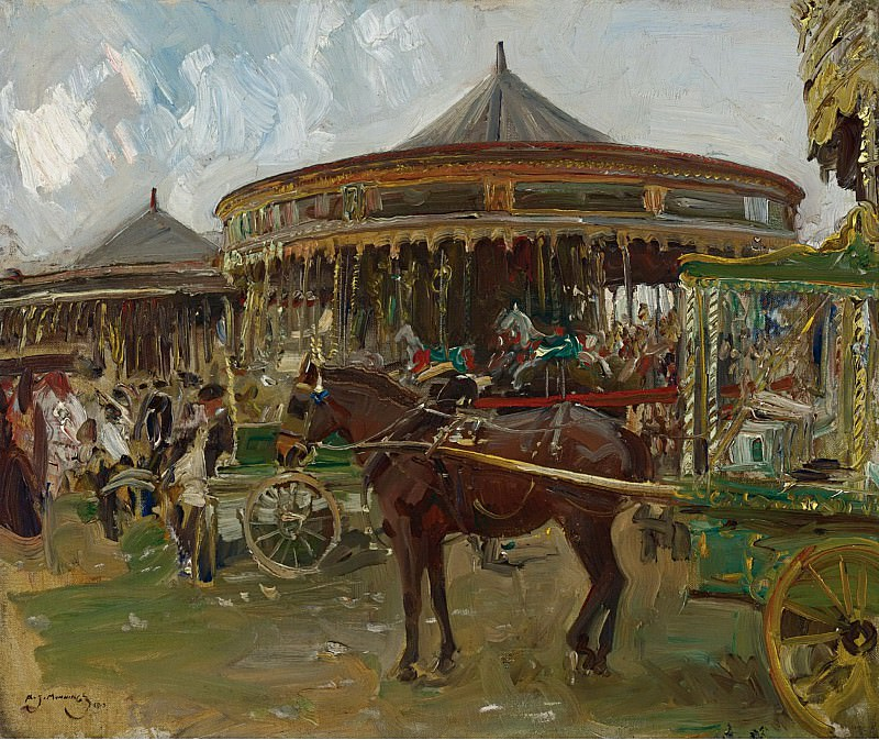 Alfred James Munnings - The Carousel, 1913. Sotheby's