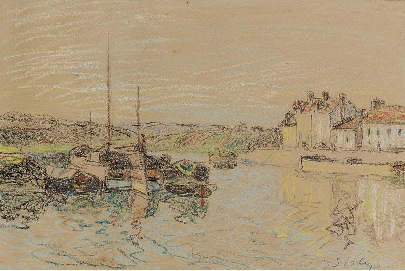 Alfred Sisley - The Channel of Loing at Saint-Mammes, 1888. Sotheby's