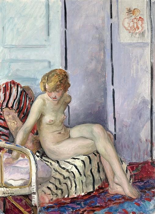 Henri Lebasque - Nude in Armchair, 1923. Картины с аукционов Sotheby's