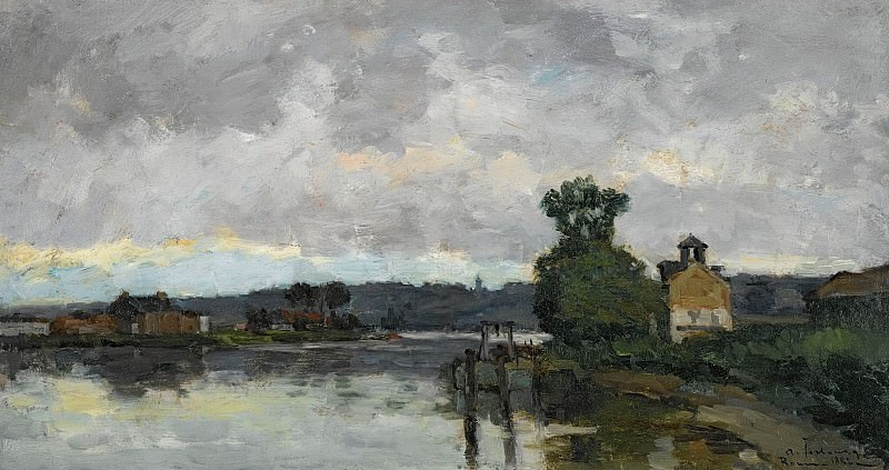 Albert Lebourg - The Seine at Canteleau ain Summer, 1882. Sotheby's