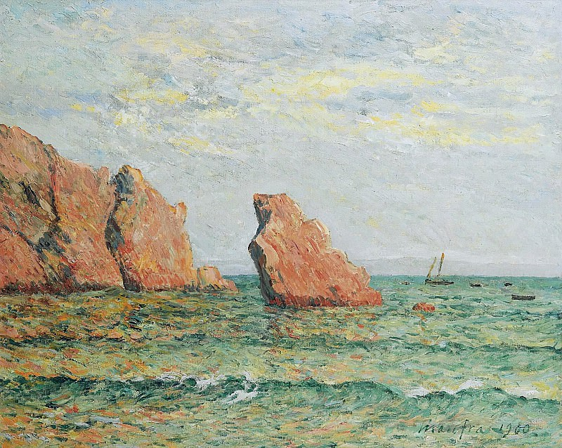 Maxime Maufra - Lonely Rock at Morgat, 1900. Sotheby's