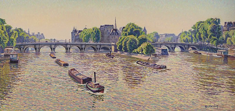 Gustave Cariot - Pont-Neuf at Paris, 1938-42. Sotheby's