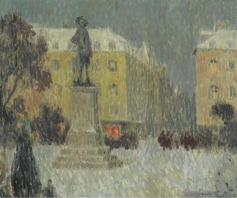 Henri Le Sidaner - Hoche Square, Versailles, 1939. Картины с аукционов Sotheby's