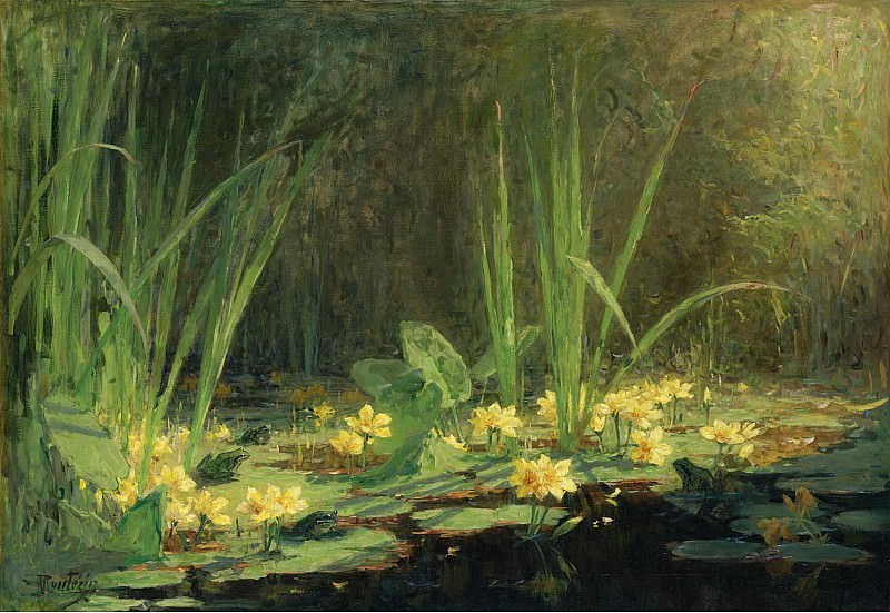 Pierre-Eugene Montezin - The Pool with Frogs, 1908. Sotheby's