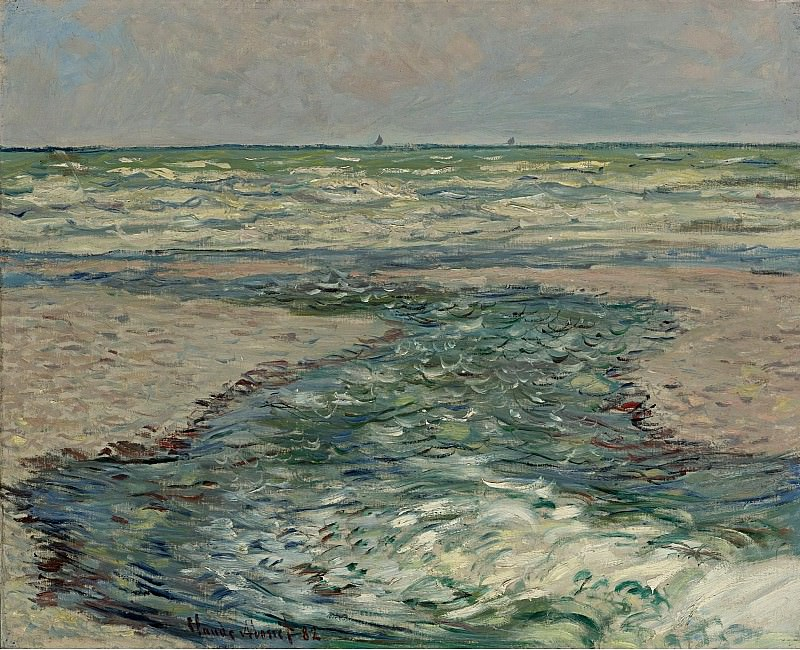 Claude Monet - The Seacoast of Pourville, Low Tide, 1882. Sotheby's