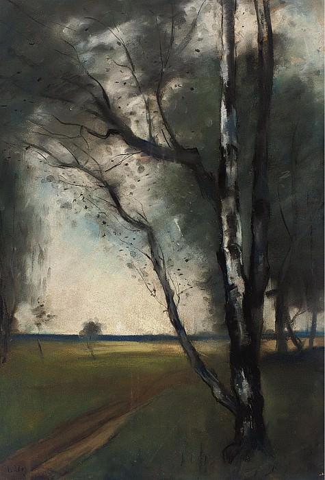 Lesser Ury - Birch Grove. Sotheby's