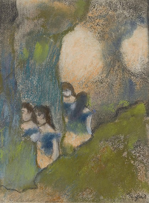 Edgar Degas - Dancers behind the Scenes. Sotheby's