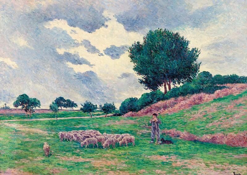 Люс, Максимильен - Mereville, Flock of Lambs, 1902-03. Картины с аукционов Sotheby's