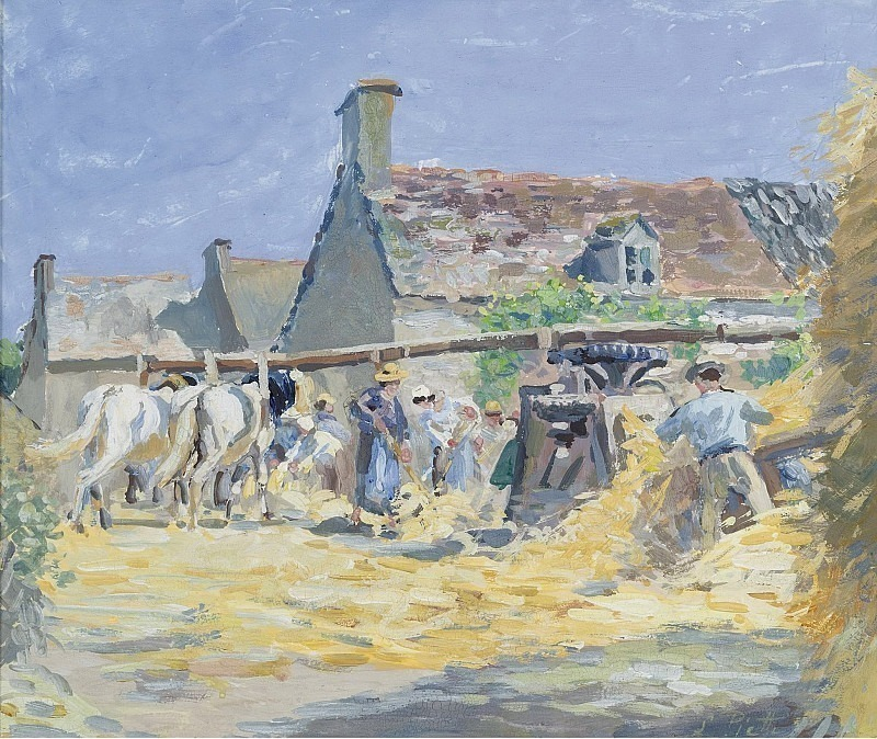 Ludovic Piette - Hay Moving at Montfoucault, 1876. Sotheby's